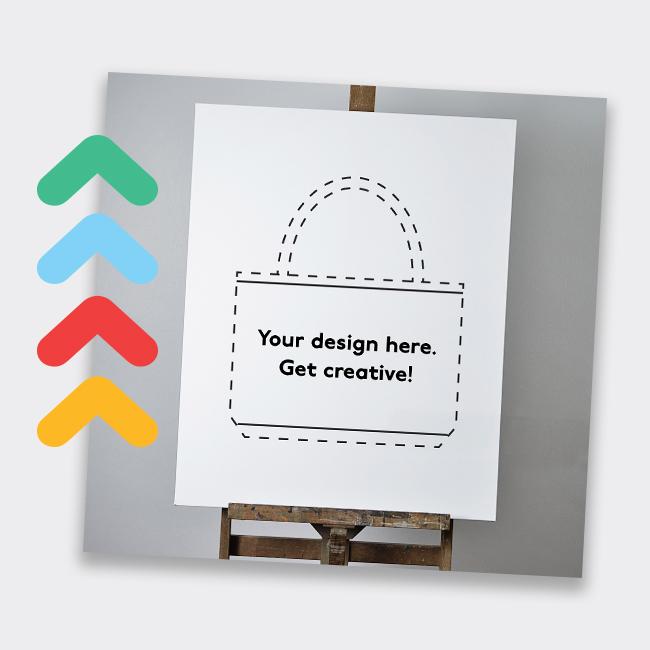 Image of Hand drawn tote bag sketch